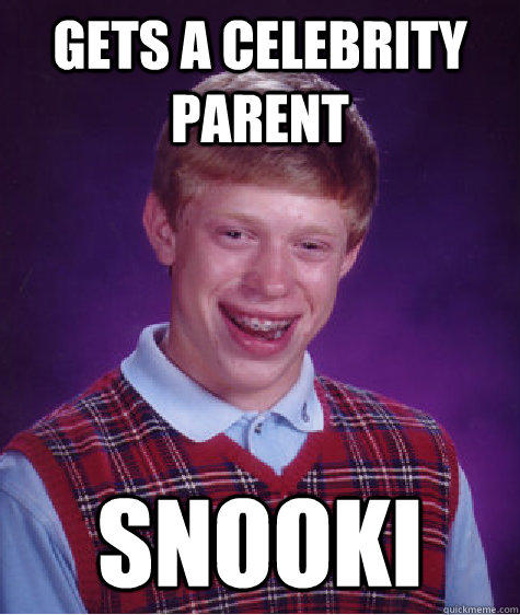 Gets a celebrity parent snooki - Gets a celebrity parent snooki  Bad Luck Brian