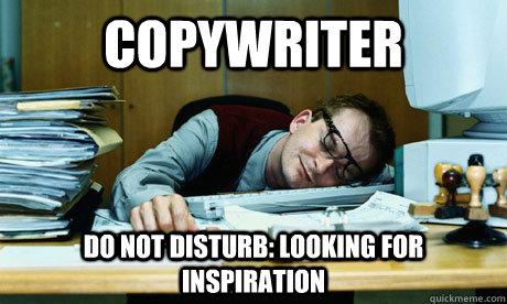 Znalezione obrazy dla zapytania copywriter meme