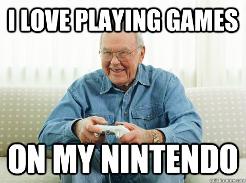I love playing games On my nintendo