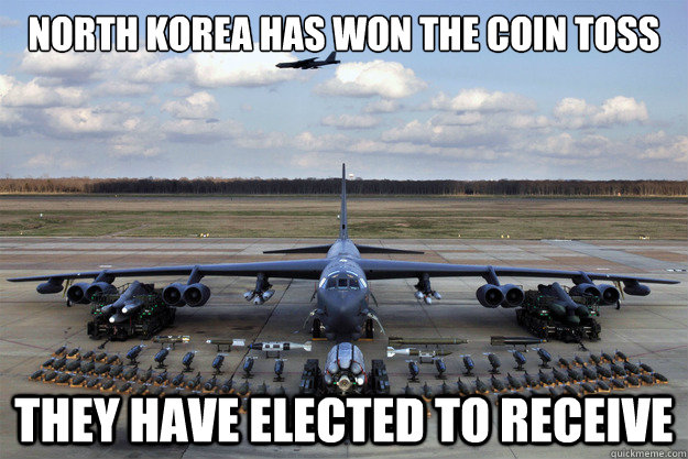north korea has won the coin toss they have elected to receive