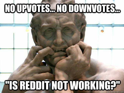 No upvotes... no downvotes...