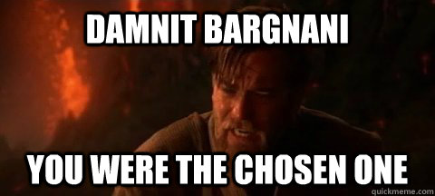 Damnit Bargnani You were the chosen one - Damnit Bargnani You were the chosen one  Obi Wan Not pleased