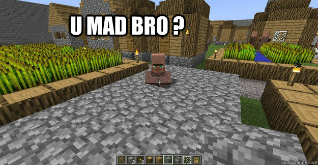 Trolling Minecraft Villager Memes Quickmeme