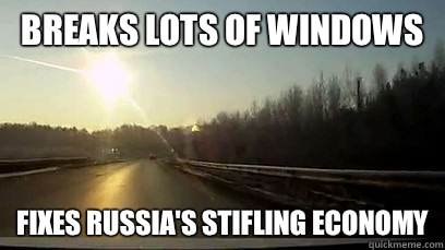 Breaks Lots of Windows Fixes Russia's Stifling Economy