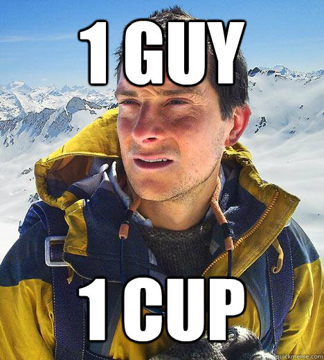 1 guy 1 cup - 1 guy 1 cup  Bear Grylls