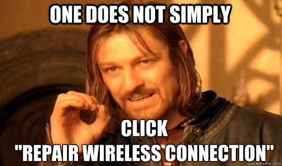 One does not simply click
