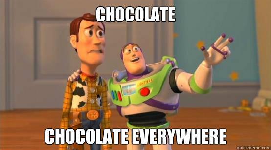 chocolate chocolate everywhere - chocolate chocolate everywhere  Buzz Glitter