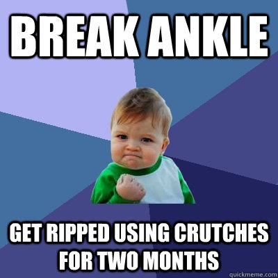 Break ankle get ripped using crutches for two months - Break ankle get ripped using crutches for two months  Success Kid