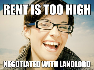 Rent is too high Negotiated with landlord - Rent is too high Negotiated with landlord  Success Woman