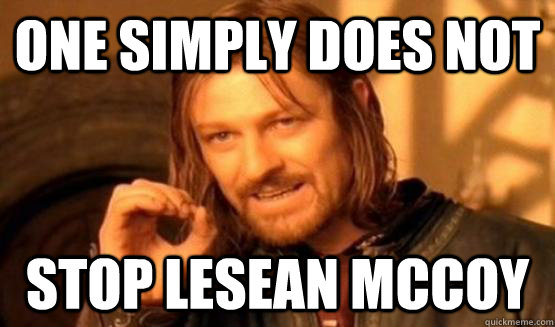 One Simply Does not STOP LESEAN MCCOY