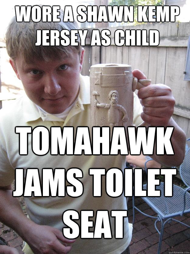 wore a shawn kemp jersey as child tomahawk jams toilet seat