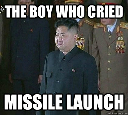 The boy who cried Missile launch   Sad Kim Jong Un