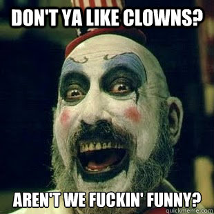 Scary Halloween Clown Memes at Slapwank