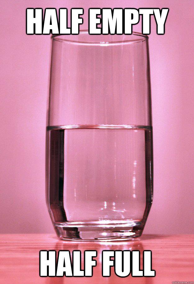 Half Empty Half Full - Perspective Glass - quickmeme