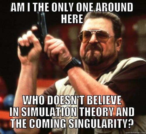 AM I THE ONLY ONE AROUND HERE WHO DOESN'T BELIEVE IN SIMULATION THEORY AND THE COMING SINGULARITY? Am I The Only One Around Here