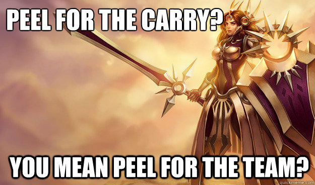 Peel for the carry? You mean Peel for the team?