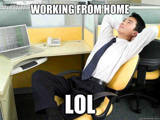 working from home LOL - working from home LOL  Office Thoughts