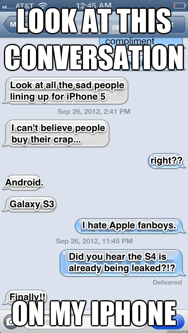 Funniest Meme Conversations : Look at this conversation on my iphone text