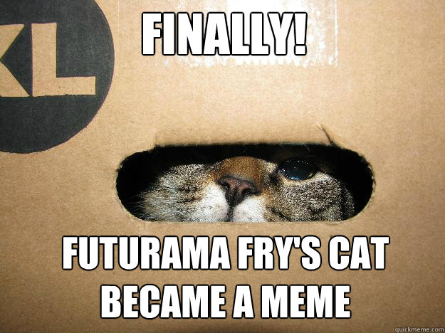 finally! Futurama Fry's cat became a meme