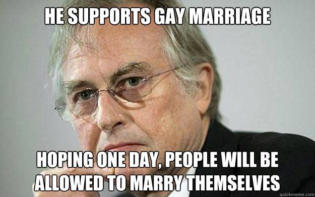 Richard Dawkins is gay