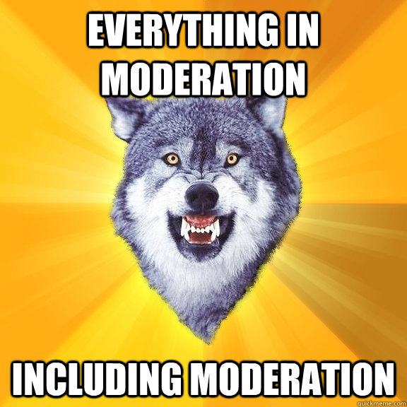 EVERYTHING IN MODERATION INCLUDING MODERATION - EVERYTHING IN MODERATION INCLUDING MODERATION  Courage Wolf