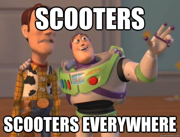 SCOOTERS Scooters EVERYWHERE - SCOOTERS Scooters EVERYWHERE  Buzz Lightyear