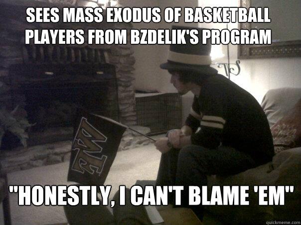 sees mass exodus of basketball players from Bzdelik's program