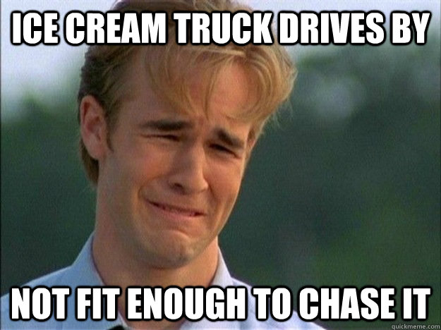 Ice cream truck drives by not fit enough to chase it - Ice cream truck drives by not fit enough to chase it  1990s