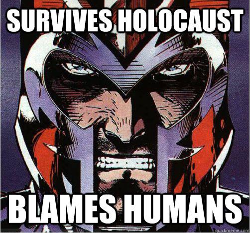 SURVIVES HOLOCAUST BLAMES HUMANS