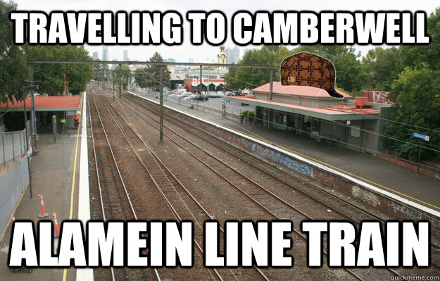Travelling to Camberwell Alamein line train - Travelling to Camberwell Alamein line train  Misc