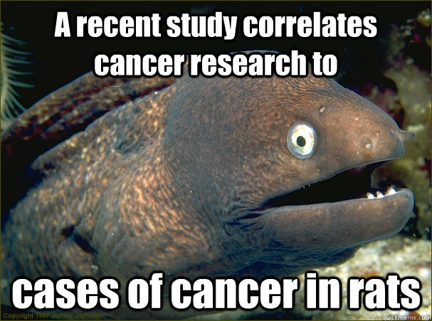 A recent study correlates cancer research to  cases of cancer in rats - A recent study correlates cancer research to  cases of cancer in rats  Misc
