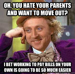 Oh You Hate Your Parents And Want To Move Out I Bet