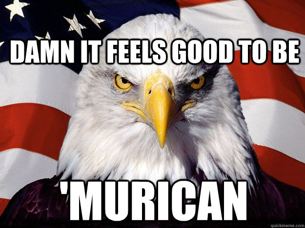 Damn it feels good to be 'Murican - Damn it feels good to be 'Murican  Patriotic Eagle