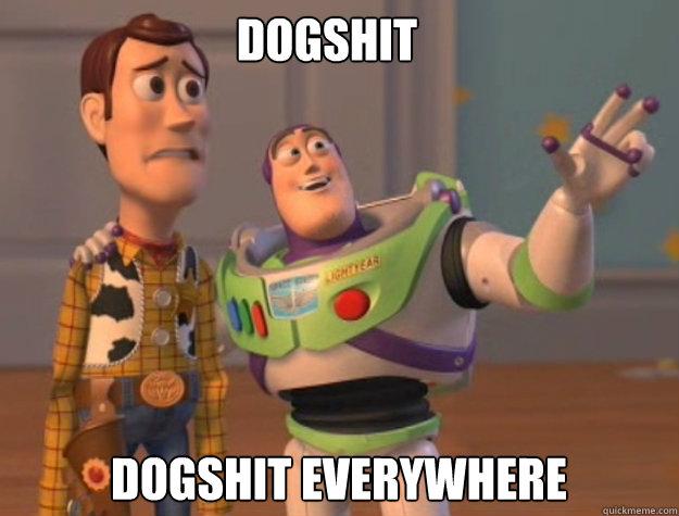 DOGSHIT DOGSHIT EVERYWHERE