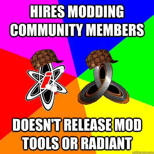 Hires modding community members doesn't release mod tools or radiant