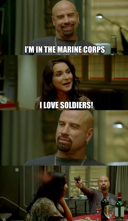 I'm in the marine corps I love soldiers! - I'm in the marine corps I love soldiers!  Skinhead John v2