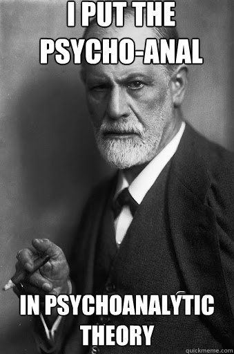 I put the psycho-anal in psychoanalytic theory
