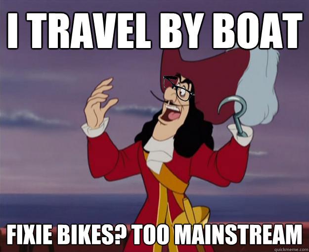 I travel by boat Fixie Bikes? too mainstream