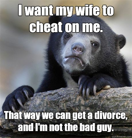want to cheat on wife