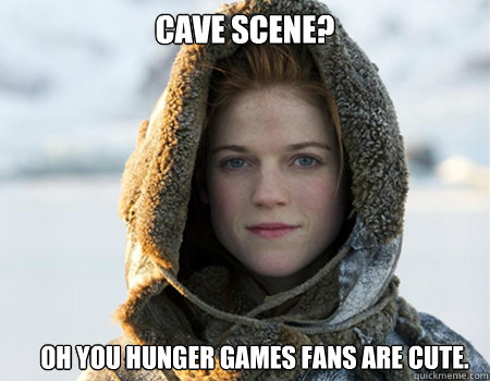 Cave Scene? Oh you Hunger Games fans are cute.