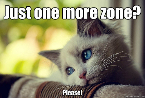 Just one more zone? Please! - Just one more zone? Please!  First World Problems Cat