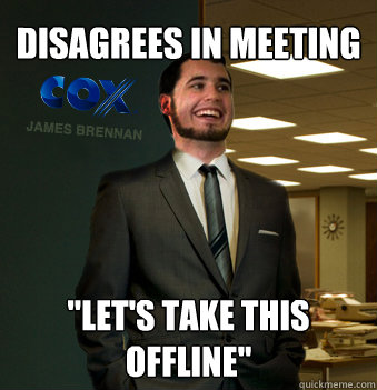 disagrees in meeting