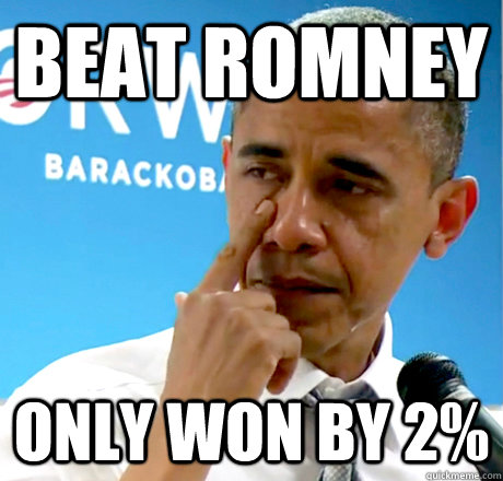beat romney only won by 2%