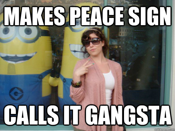 Movie stars making peace signs
