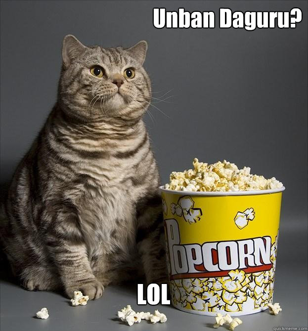 Unban Daguru? LOL - Unban Daguru? LOL  Critic Cat