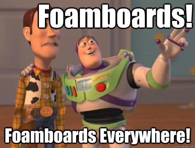 Foamboards! Foamboards Everywhere! - Foamboards! Foamboards Everywhere!  Pinks everywhere