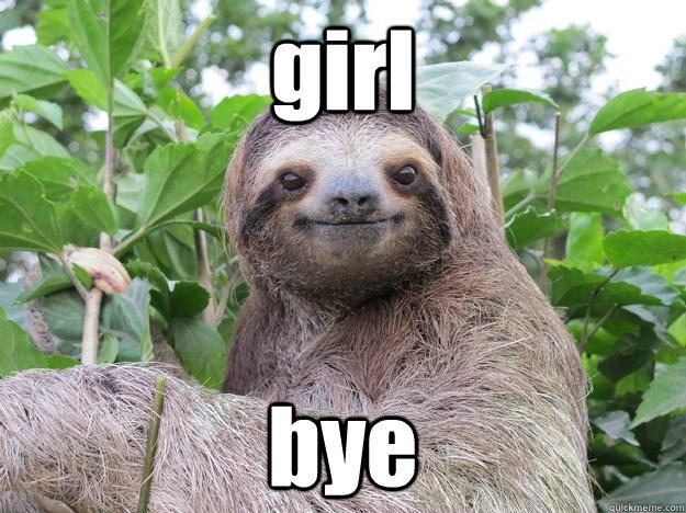 131331a6d81241ebf74a92653555e93c1a64b8d47568ddc918146065f3c091fc girl bye stoned sloth quickmeme