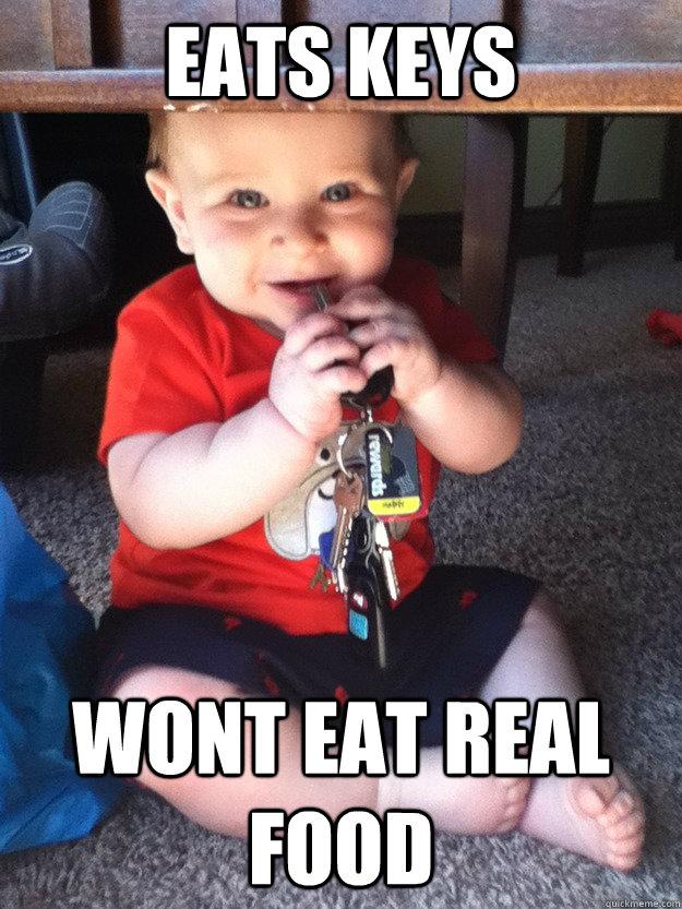 eats keys wont eat real food