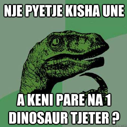 Nje pyetje kisha une  A keni pare na 1 Dinosaur tjeter ?  Philosoraptor