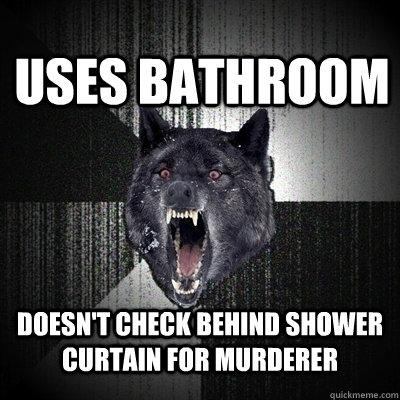 Uses Bathroom Doesnt Check Behind Shower Curtain For Murderer